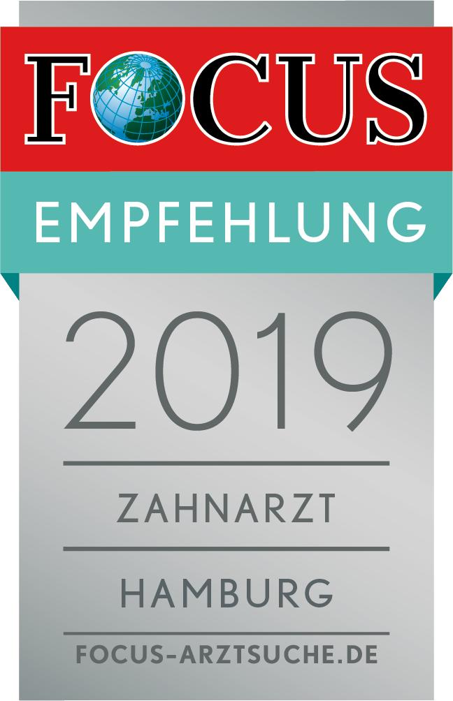 FOCUS-Empfehlungssiegel Zahnarzt in Hamburg